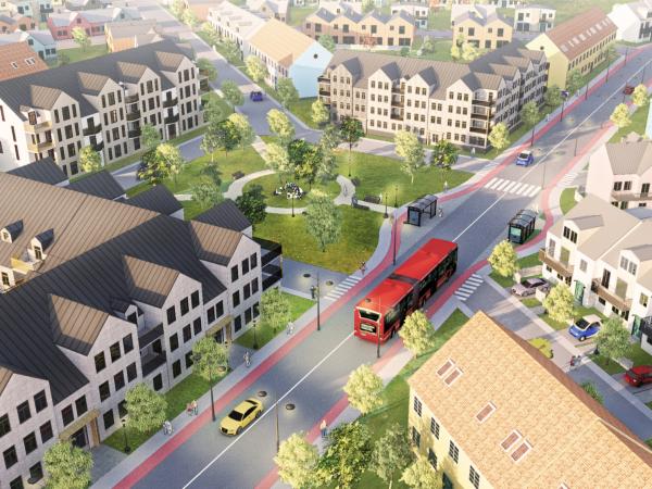 Man måste kunna planera för lägre bebyggelser och enfamiljshus nära staden. Det är trots allt så människor vill bo.