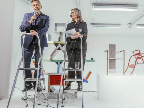 Kerstin Sandin och Lars Bülow inviger sitt egna designmuseum i Stockholm Frihamn, Magasin 6. Foto: Stina Stjernkvist