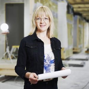 Helena Lidelöw, konstruktionschef och ansvarig för hållbarhetsarbetet på Lindbäcks bygg