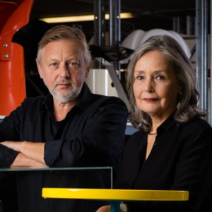 Lars Bülow och Kersti Sandin, grundare av Möbeldesignmuseum.
