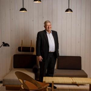 Knud Erik Hansen på Stockholm Furniture Fair i Älvsjö 2020.