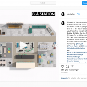 Blå Station skapade en virtuell mässa.